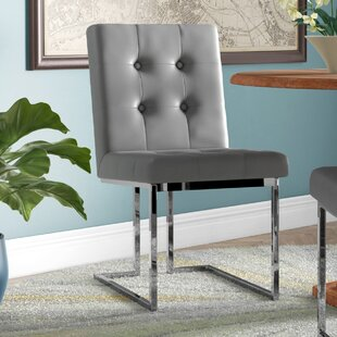 Bellamy Chrome Side Chair (Set of 2) Everly Quinn