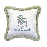 Have A Seat Sunbrella® Throw Pillow