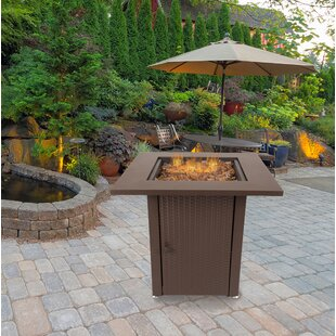 Grant Steel Propane Gas Fire Pit Table by Pleasant Hearth Today Only Sale