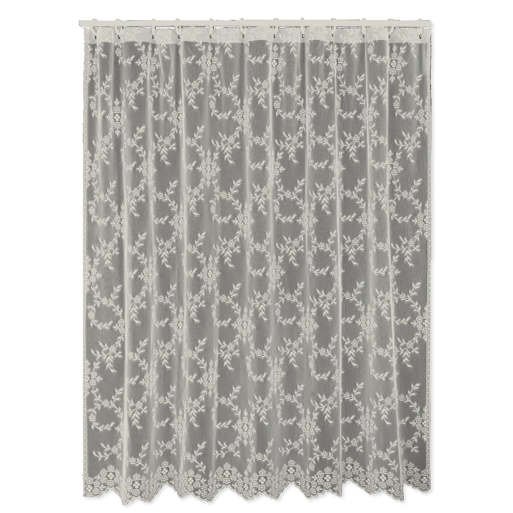 Heritage Lace Downton Abbey Yorkshire Shower Curtain  Reviews - Beige and gray shower curtain