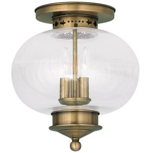 Shielo 3-Light Semi Flush Mount