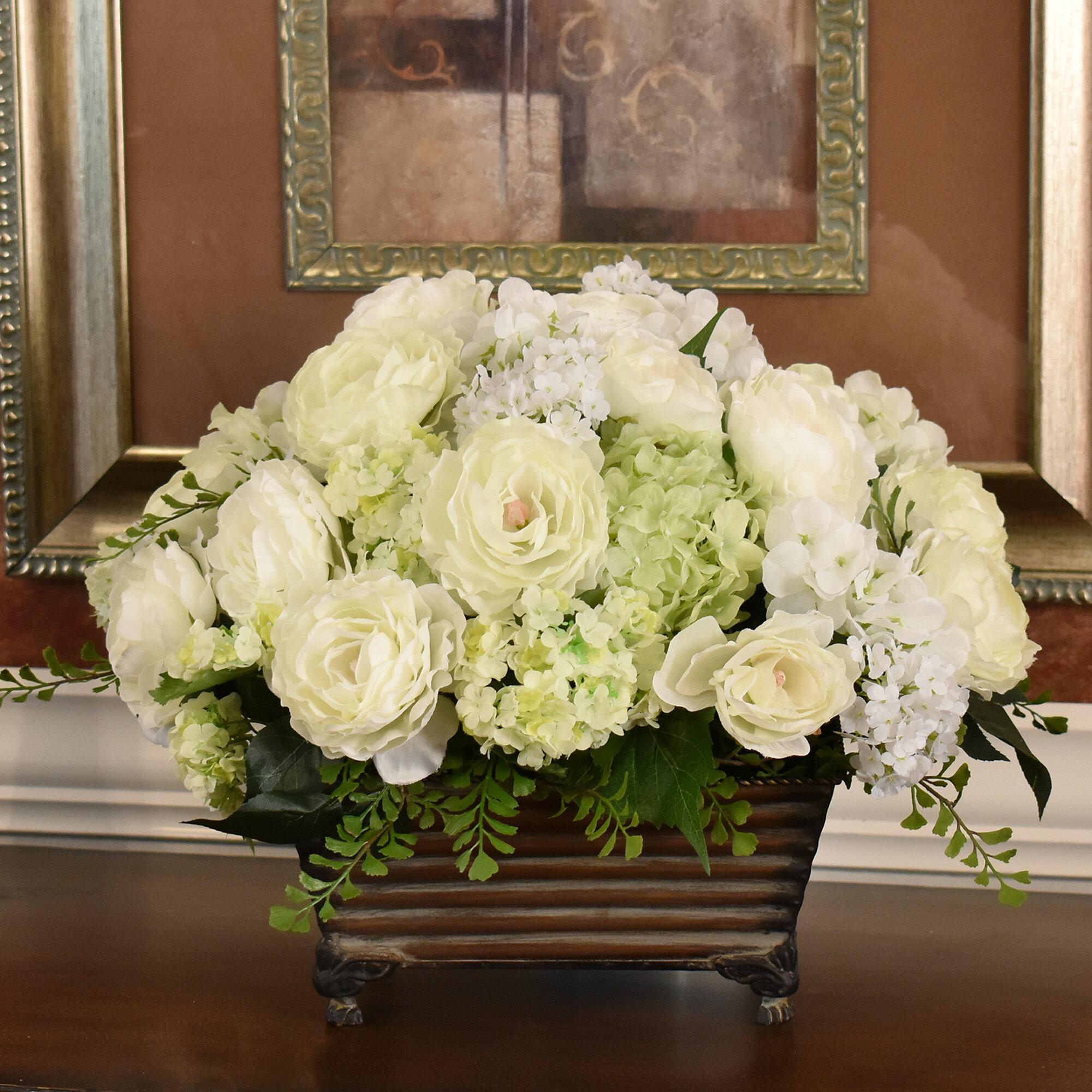 Astoria grand silk flower centerpiece in planter wayfair mightylinksfo