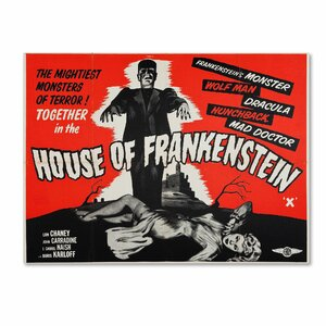 'Apple 'House of Frankenstein' Vintage Advertisement on Wrapped Canvas