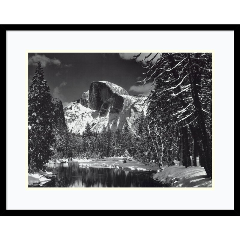 Half Dome Winter Yosemite National Park By Ansel Adams Framed Photographic Print