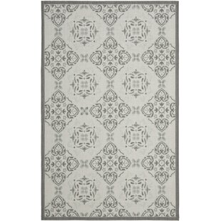 Short Light Grey/Anthracite Indoor/Outdoor Synthetic Rug