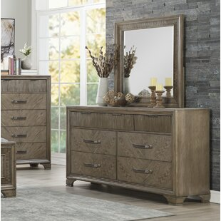 Carlos 7 Drawer Double Dresser with Mirror