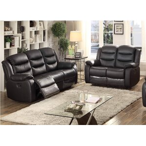 Bennett 2 Piece Leather Living Room Set by AC Pacific