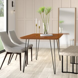 Lacluta Solid Wood Dining Table Mercury Row