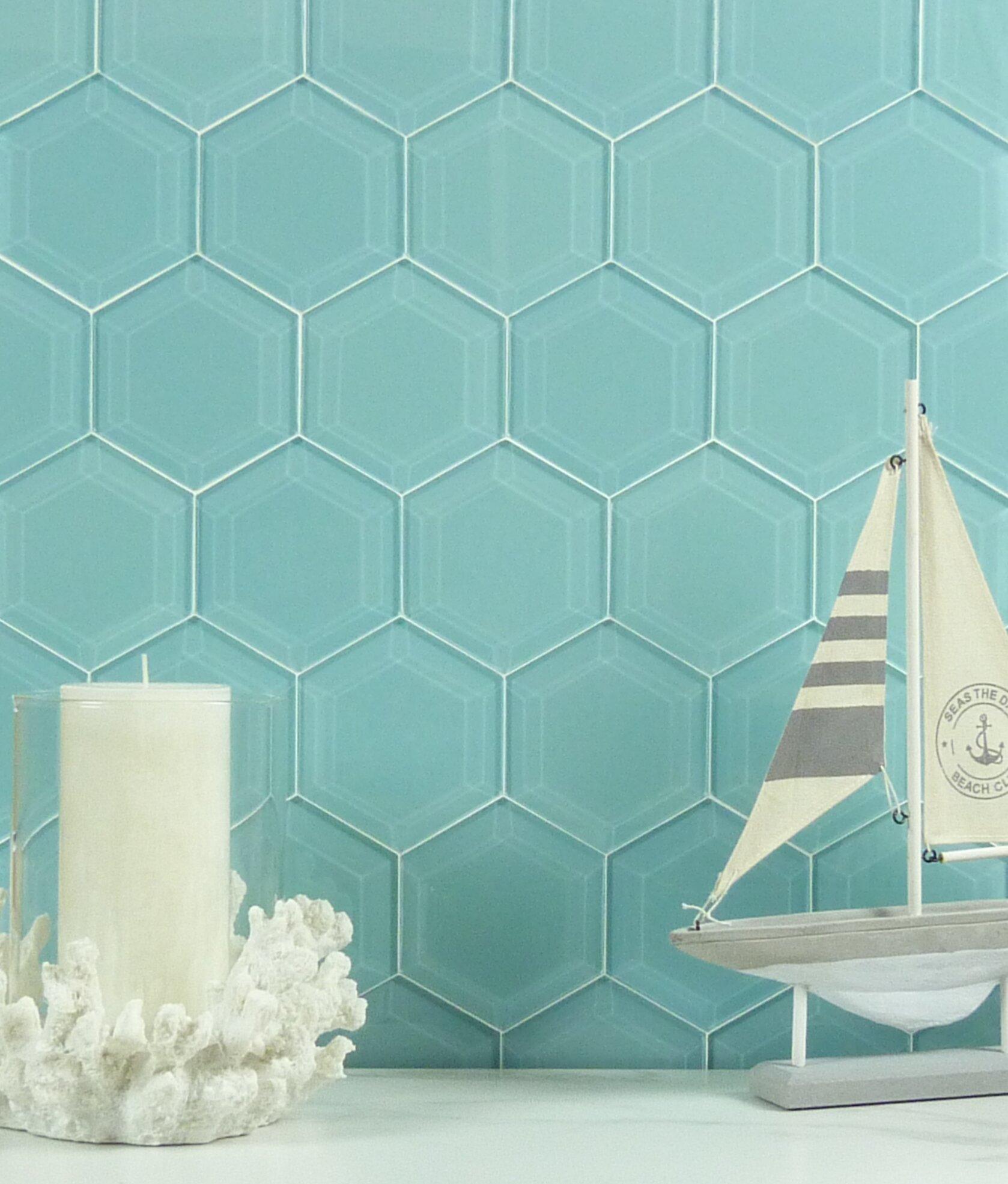 Steeple Beveled Hexagon Glossy