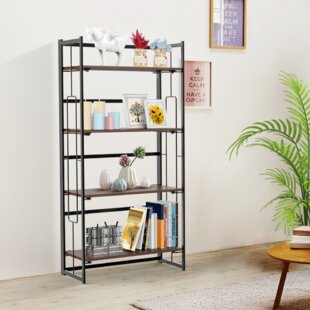 Dollie 4-Tier Folding Metal Etagere Bookcase