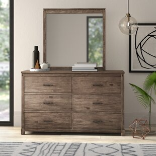 Seleukos 6 Drawer Double Dresser with Mirror