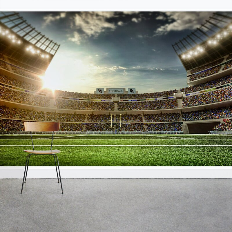 Wallums Wall Decor Football Stadium Stands 8 x 144 3 Piece Wall