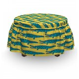 Repetitive Crocodile Ottoman Slipcover (Set of 2) by East Urban Home