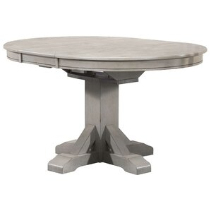 Rutledge Pedestal Dining Table with Butterfly Leaf by Rosecliff Heights