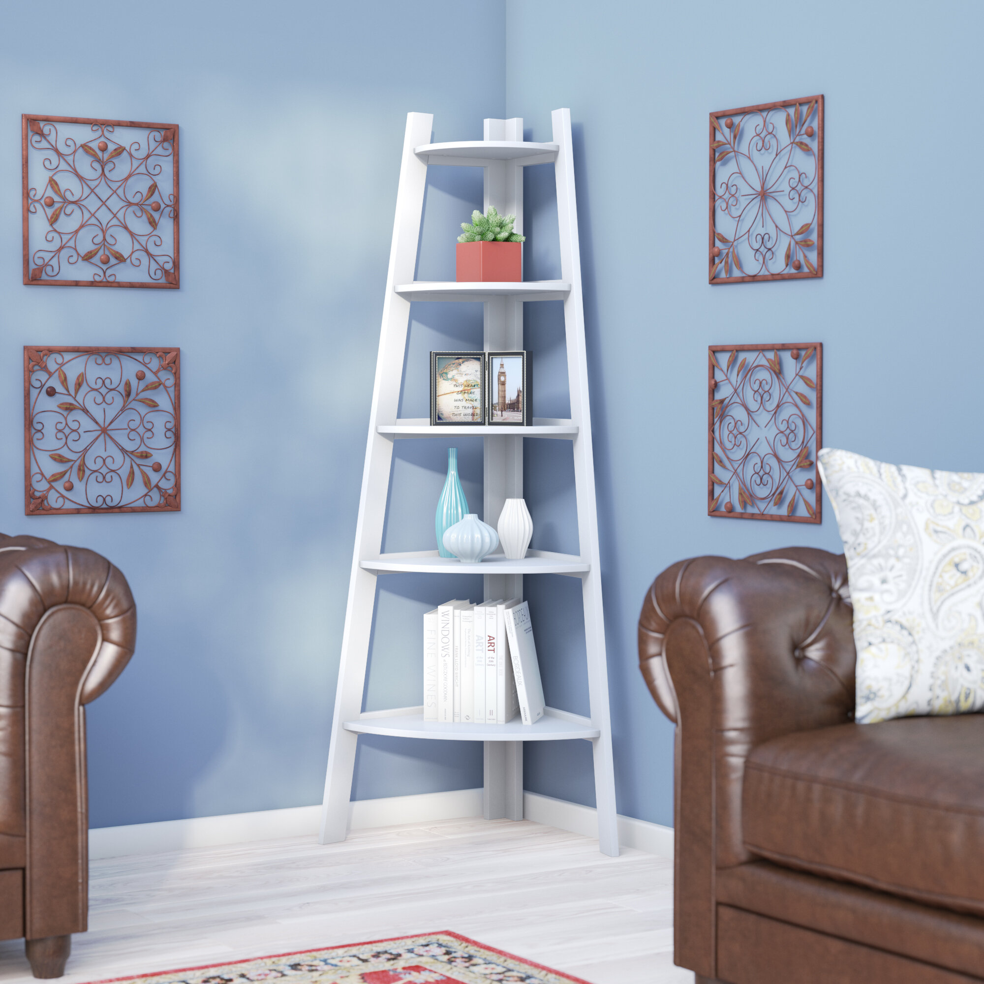 Charlton Home Catlin Corner Unit Bookcase & Reviews | Wayfair