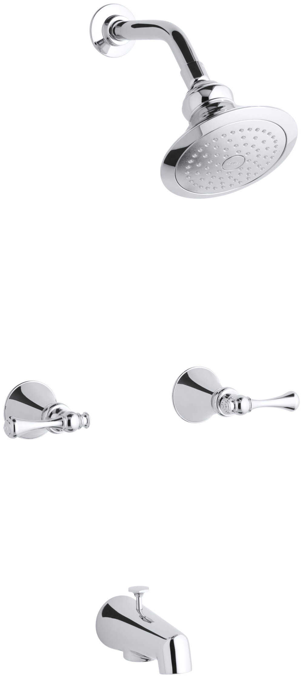 K-16213-4A-BN,BV,CP Kohler Revival Bath and Shower Faucet Set with ...