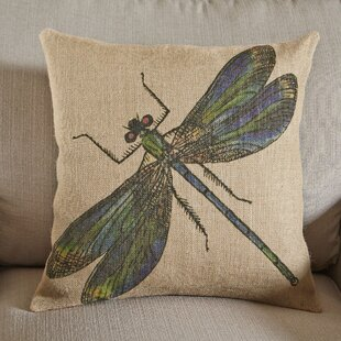 Xochitl Dragonfly Burlap Pillow