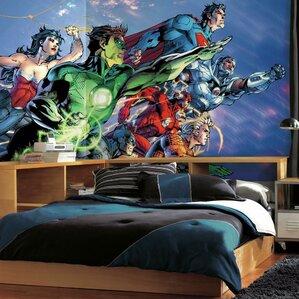 Superhero Wall Murals superheroes & villains wall decals you'll love | wayfair