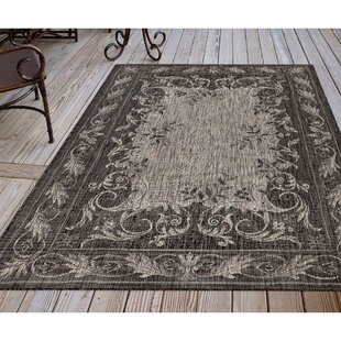 Arverne Aubusson Gray Indoor/Outdoor Area Rug