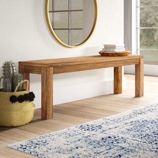 Allegro Wood Bench by Mistana