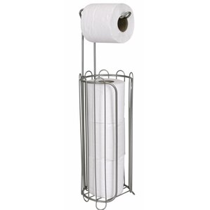 free standing toilet paper holder with dispenser
