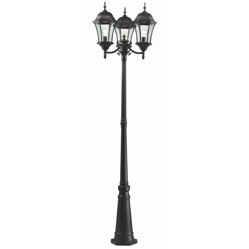 Astoria Grand Lyles Outdoor 3 Light 90 Post Light Reviews Wayfair