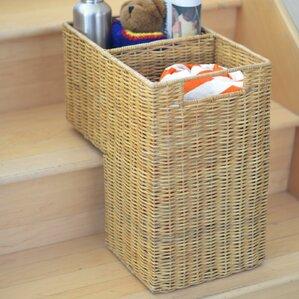 Wicker Stair Step Basket