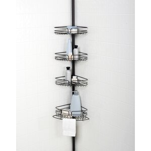 Tub and Shower Tension Pole Corner Shower Caddy