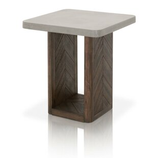 Belliveau Concrete Top End Table