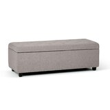 Burrus 48 Wide Tufted Rectangle Storage Ottoman by Charlton Home®