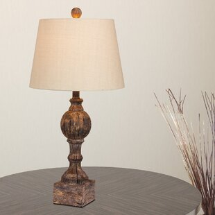 Reviews Roxann Rustic Sculpted 27 Table Lamp (Set of 2) By Ophelia & Co.