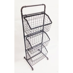Beautiful 3 Tier Floor Stand Display Basket