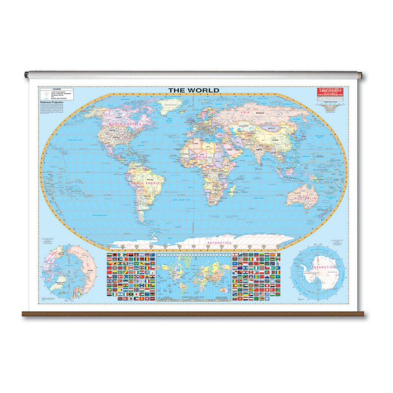 Universal Map Large Scale Wall Map World Wayfair - Large scale world map