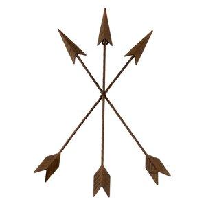 Brown Metal Tribal Arrow Wall Du00e9cor