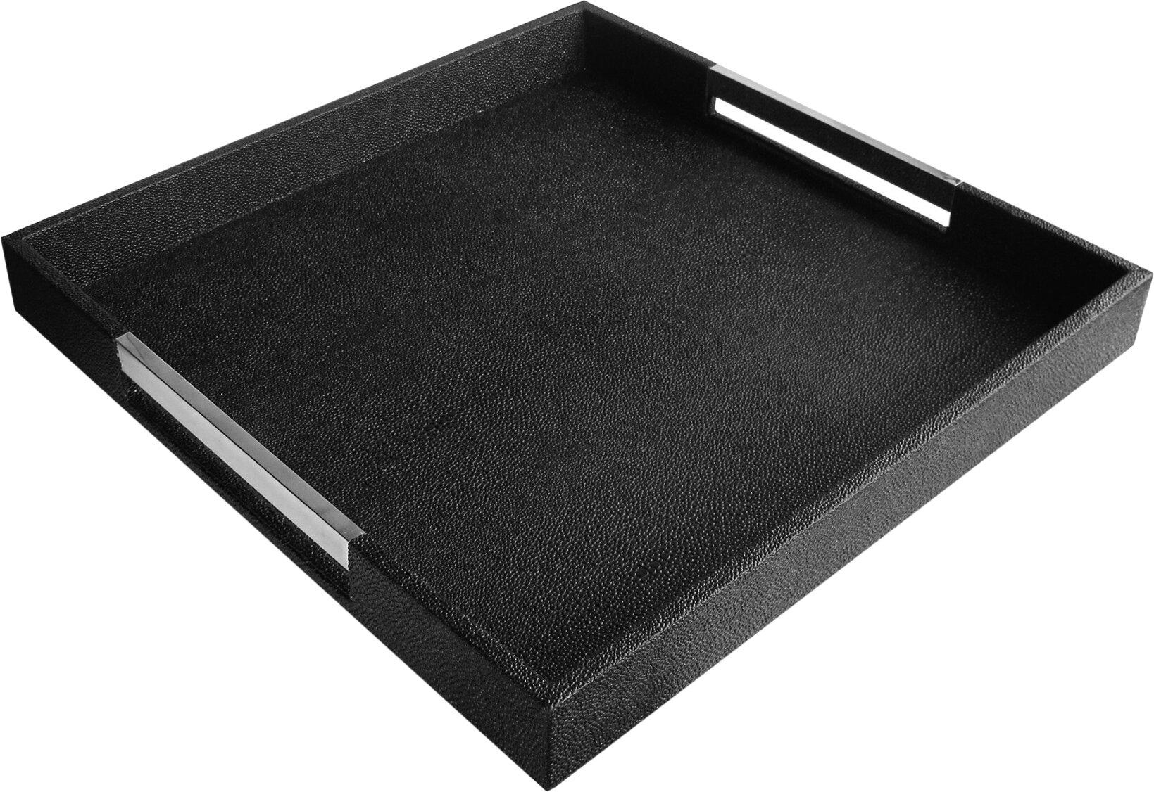 Blesiya Decorative Tray Metal Vanity Tray Square Rectangle Serving Platter