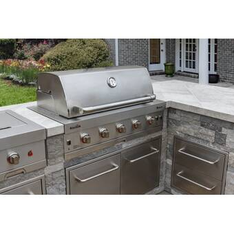 Charbroil 41 5 Stainless Steel Drop In Grill Cabinet Wayfair