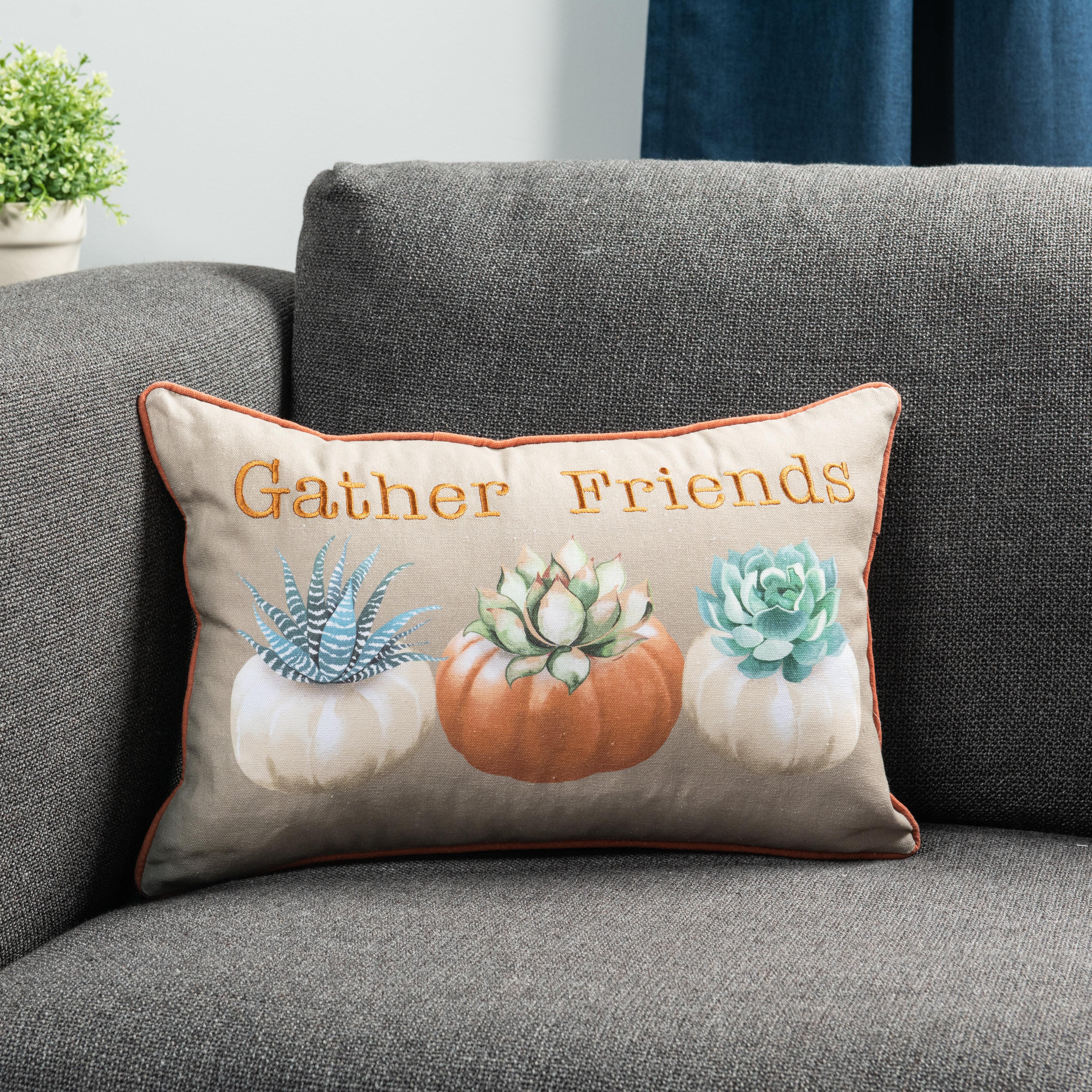 Sure Fit Pumpkin Succulents Lumbar Pillow Wayfair