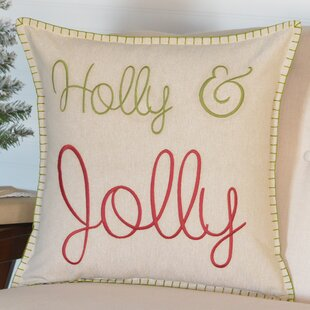 Holly & Jolly Throw Pillow