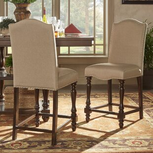 Hilliard Linen Upholstered Dining Chair Peat (Set of 2) by Darby Home Co