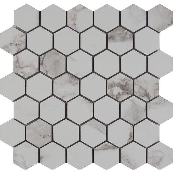 Msi Statuario 2 X Hexagon Porcelain Mosaic Tile In Matte Reviews Wayfair