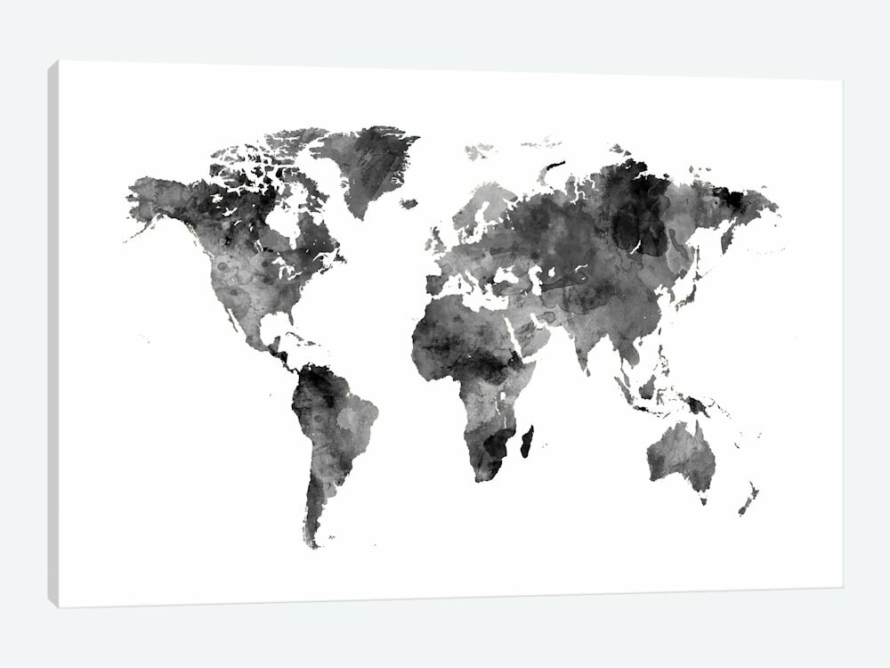East urban home world map series shades of grey wo antarctica world map series shades of grey wo antarctica graphic art on gumiabroncs Image collections