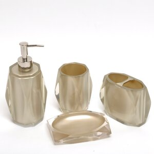 Glisten 4-Piece Bathroom Accessory Set