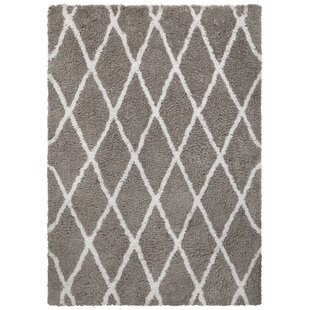 Inexpensive Mekhi Hand-Tufted Gray/White Area Rug By Brayden Studio