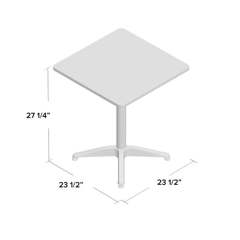 zipcode design lula square bistro table & reviews | wayfair