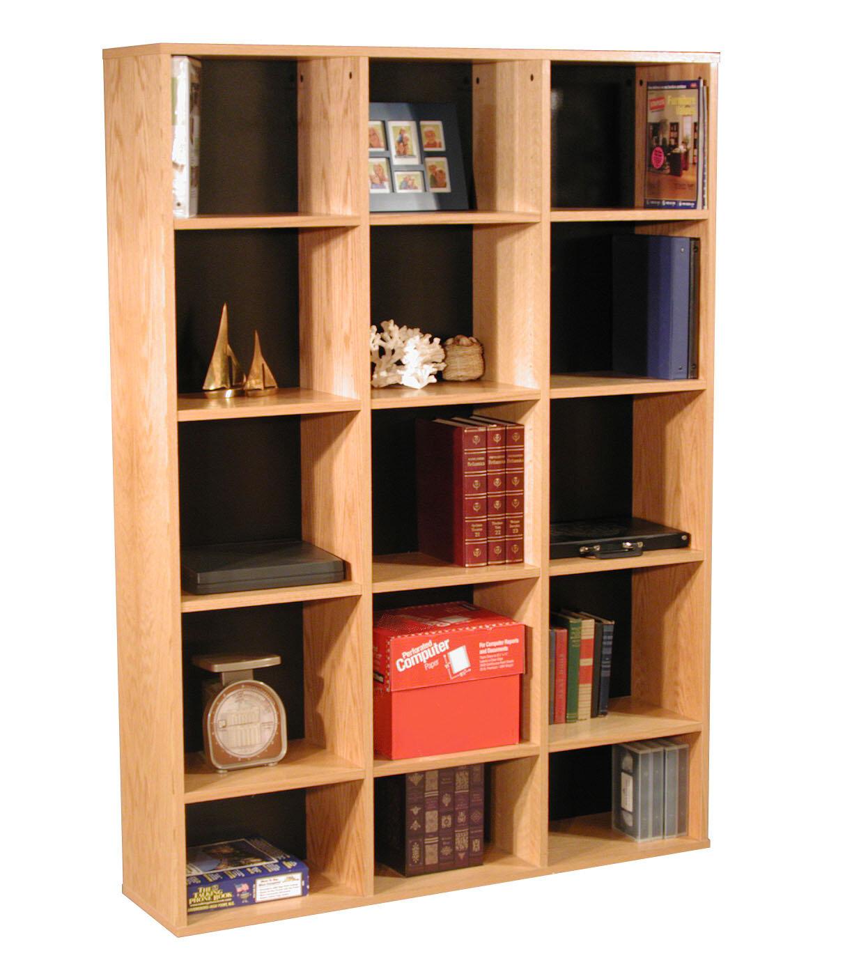 Rush furniture modular real oak wood veneer furniture cube unit bookcase wayfair