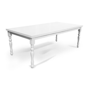 Lynbrook White Wood Dining Table