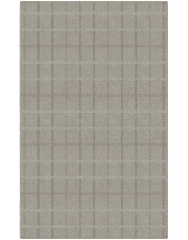 Gracie Oaks Myra Muted Plaid Brown Area Rug, Size: Rectangle 76 x 10