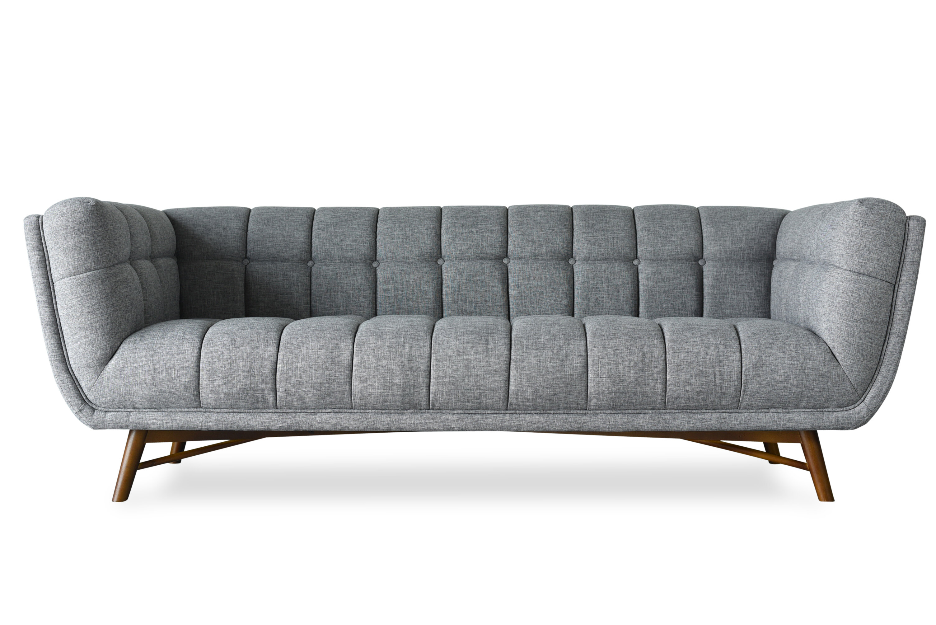 Claris Mid-Century Modern Chesterfield Sofa
