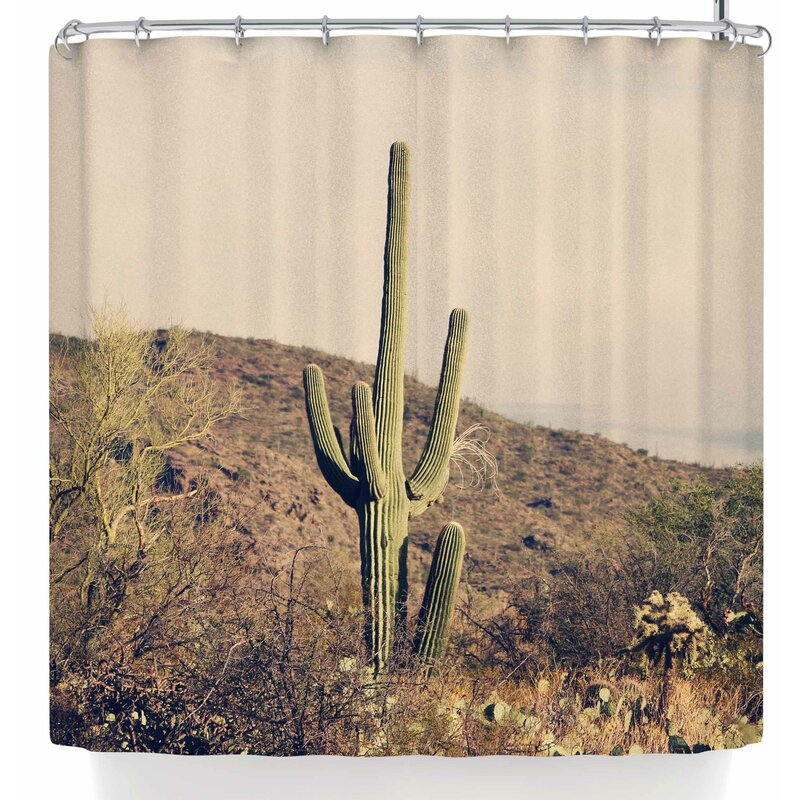 Sylvia Coomes Cactus Desert Landscape Single Shower Curtain