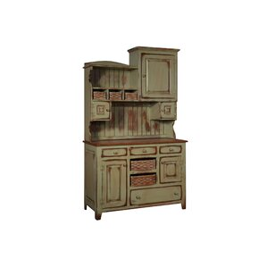 Charlottesville Hutch with Basket Standard China Cabinet by August Grove